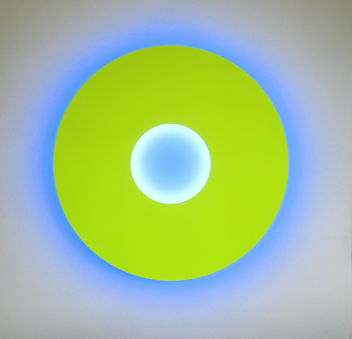 Small Disc Fluo yellow / blue intenso, 2008